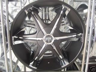 "22"" Dub Big Homie Wheels Tires New 2010 Model Blk Tis"