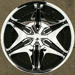 "Akuza Big Papi 712 20"" Chrome Rims Wheels Benz CLK320 CLK430 20 x 8 5 5H 45"