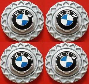 "Four 1988 1995 BMW BBs 15"" 16"" Wheel Center Hub Caps Styl 5 7 Series E32 E34"
