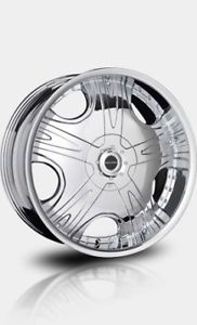 "20"" Chrome Falken Executive Wheels Tires F150 Navigator"