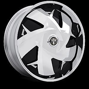 "32"" Dub Spin Wu Wheel Set 32x10 Chrome Spinner Rims for rwd 5 6 8 Lug Vehicles"