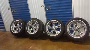 Set of 4 Chip FOOSE Chrome Nitro Wheels with Hankook Z Rated Performance Tires