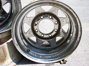 "Set of 4 8 Lug on 6 5 Chrome Wagon Wheel 16 5 by 9 75"" C K Chevy Dodge Ford"