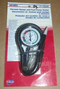 CarQuest STL 20300 Automotive Vacuum Gauge Fuel Pump Tester Assembly New