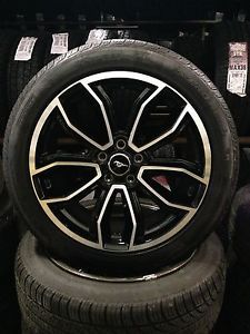 "2013 2014 Ford Mustang GT Factory 19"" Black Wheels Tires Rims 3909 Pirelli"