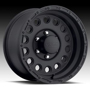 16 inch Black Raceline Rock Crusher Wheels Rims Chevrolet Silverado Tahoe 6x5 5
