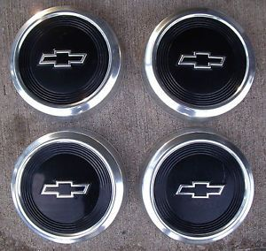 "Nice Set Vintage GM Chevrolet Chevy Truck Van Car 10 1 2"" Hub Caps Dog Dish"