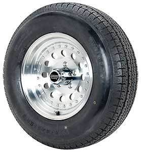 American Racing 62 5765K American Racing Outlaw II Trailer Wheel and Tire Packag