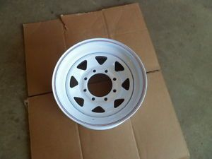 8 Lug American Racing White Wagon Wheel
