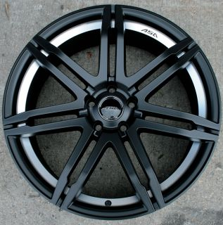 "ASA GT4 20"" Black Rims Wheels Audi A4 A6 Passat VW"