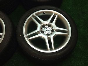 Factory AMG Mercedes Benz 18 inch Wheels Pirelli Zero Tires Staggard