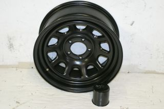 1 Black Rock 942 Wheel 15x7 5x4 5 87 06 Jeep Wrangler YJ TJ Cherokee XJ ZJ