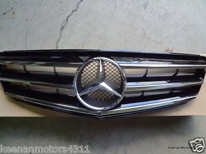Genuine Mercedes Benz C Class W204 Steel Grey Painted Sports Grille