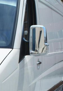 Mercedes Benz Sprinter Stainless Chrome Door Wing Mirror Trim Set Covers 06