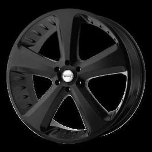 "22"" American Racing Hot Rod Circuit Black Challenger Charger 300C Wheels Rims"