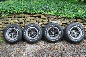 Vintage American Racing Ansen Sprint Aluminum Wheels Tires