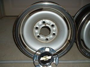 Chevy Truck Rally Wheels Complete Set of 4 with Center Caps Lug Nuts and Cover