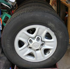 Bridgestone Dueler HT P255 70R18 Tires and Toyota Tundra Rims