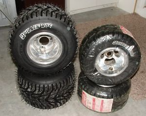Bridgestone YKP Tire Set 4 50 6 0 New Go Kart Rain Tires Including Wheels