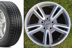 "Ford Taurus 2010 13 Factory 17"" Ford Wheels Bridgestone Blizzak Snow Tires"