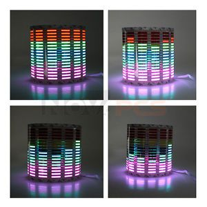 80 x 19cm Flashing Multicolor Car Rhythm Music LED Lamp Sound Equalizer Decor