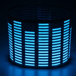 70 16cm Sound Activated Music Rhythm Blue Light Lamp Car Sticker Equalizer