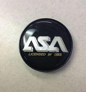 "ASA Wheel Center Cap Licensed by BBs Black and Gold 83225 2 25"" Diameter"
