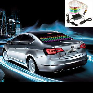 Sound Music Activated Car Sticker Equalizer LED Colourful Flash Light 90 10cm
