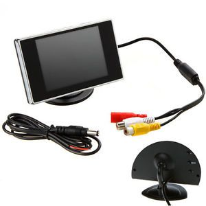 "3 5"" Digital TFT LCD Screen Rear View Monitor for Car Reverse Camera DVD VCD"