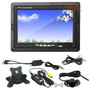 "7"" TFT LCD Car Rear View Monitor 2 4GHz Wireless Night Vision Car Backup Camera"