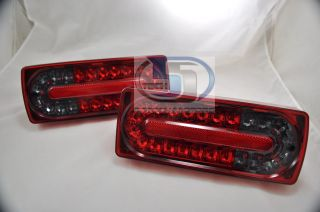 Mercedes G Class W463 G500 G55 Wagon Tail Light Covers LED New Style Red Smoke L