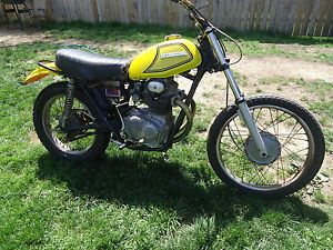 1972 Honda SL350 Twin Parts Bike Honda SL350 Engine Motor Gastank Carbs Original