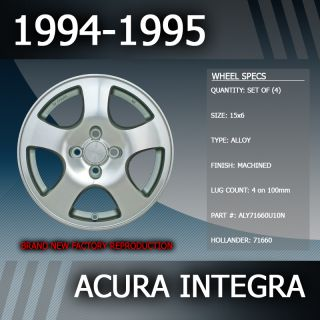 1994 1995 Acura Integra Factory 15 Wheels Rims Set of 4