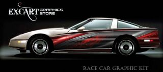 Race Car Graphics Vinyl Decal IMCA Club Racing Graphic