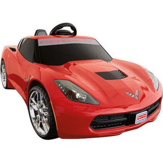 Fisher Price Power Wheels Corvette Stingray 12 Volt Battery Powered Ride on Red