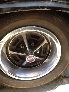 4 '69 70 Chevy Chevelle SS Nova Camaro Rally Wheels 14X7 5 Spoke Rims RARE
