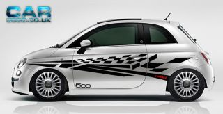 Custom Design Fiat 500 Car Kit Vinyl Graphics Stickers Decals Abarth 500C 57COLS