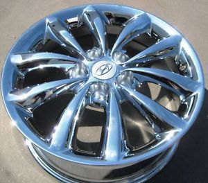 "Set of 4 New Factory Hyundai 17"" azera Chrome Wheels Rims Tiburon 2006 10"