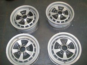 "Used Set of 4 1974 1987 Jaguar XJ6 Wheels Rims 15"" 59648"