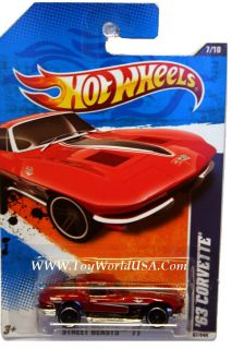 2011 Hot Wheels Street Beasts 87 '63 Corvette Red