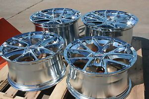 Chrome Corvette Spyder Wheels Rims 2006 2013 C6 Z06 ZO6 Grand Sport Lugs Locks