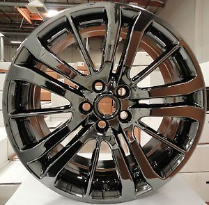 "4 New 20"" Range Rover Sport 09 12 Black Chrome PVD Wheels Outright OE 72208"