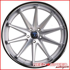 "20"" Infiniti G35 Sedan Rohana RC10 Concave Silver Staggered Wheels Rims"