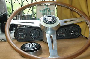 "Rolls Royce Bentley 16""Les Leston 60s Vintage Wood Steering Wheel NOS"