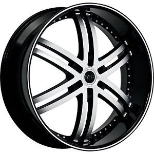24X10 Black Status Knight 6 Wheels 6x5 5 25 Cadillac Escalade