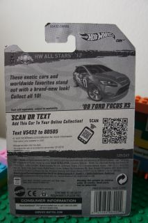 Hot Wheels'09 Ford Focus RS Diecast Vehicle HW All Stars '12 Series 9 10