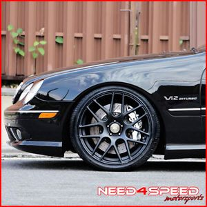 "20"" Acura RL Rennen RS7 Black Concave Staggered Wheels Rims"