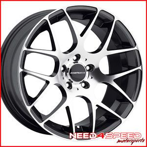 "18"" Scion FRS Avant Garde M310 Gunmetal Gray Concave Staggered Wheels Rims"