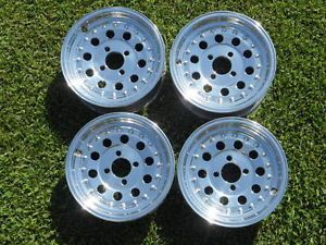 "13"" 4 Lug Just Polished Centerline Style Alum Wheels Fiat BMW Opel Honda Toyota"