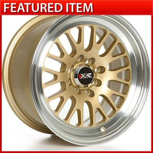 XXR 531 15 15x8 4 100 4 114 3 20 Gold Wheels Rims Honda Civic Acura Integra DC2